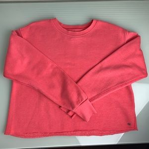 American Eagle Pink Distressed Crop Sweater